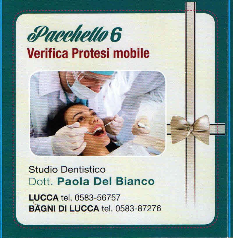 controllo e pulizia protesi dentale mobile